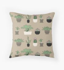 Plants Graphic Pattern Throw Pillow