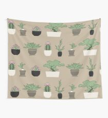 Plants Graphic Pattern Wall Tapestry