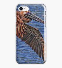 Brown Pelican Flyby iPhone Case/Skin