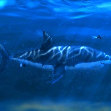 Great White Shark Digital Painting by tallbridgeguy