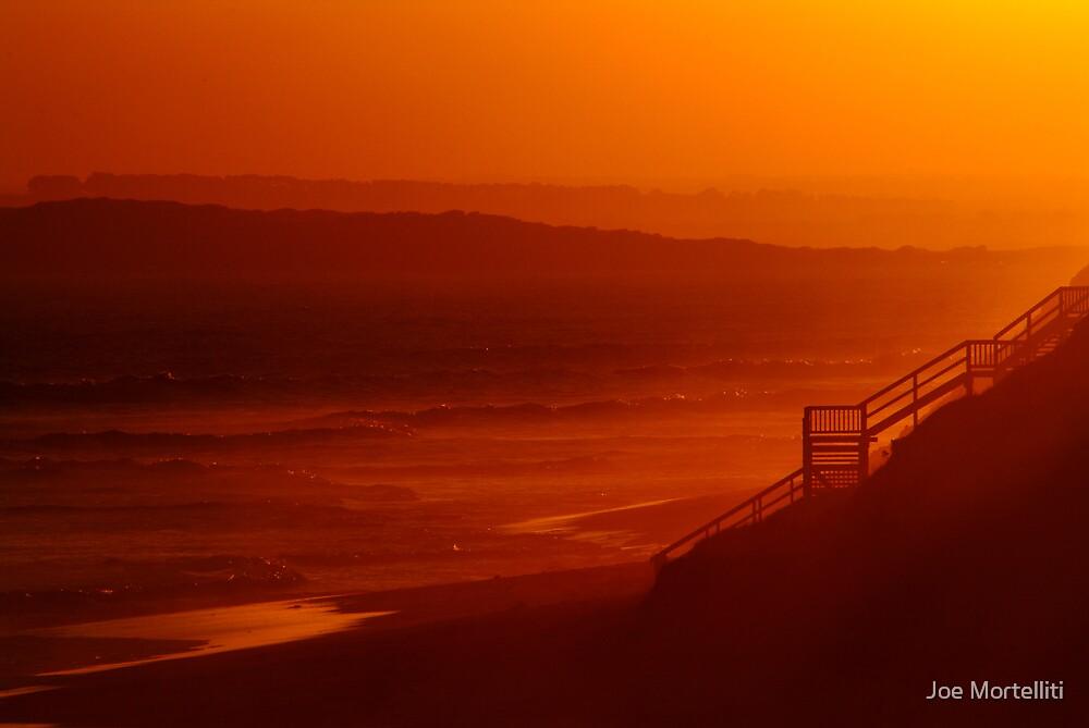 Red Sunset,13Th Beach,Bellarine Peninsula by Joe Mortelliti