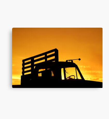 Tray Truck Canvas Print
