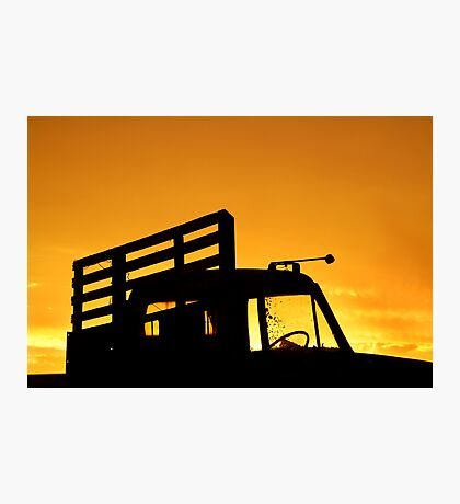 Tray Truck Photographic Print