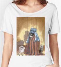 Border Collie dog at School Christmas play Women's Relaxed Fit T-Shirt