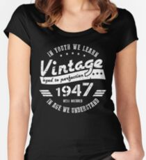 70th Birthday Youth Women's Fitted Scoop T-Shirt