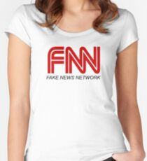FNN – Fake News Network Women's Fitted Scoop T-Shirt