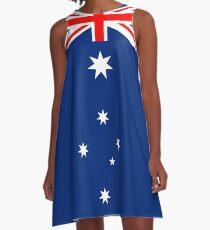 Australian Flag Design Adaptation A-Line Dress