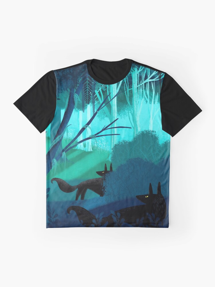 Alternate view of Shadow Wolves Stalk The Silver Wood Graphic T-Shirt