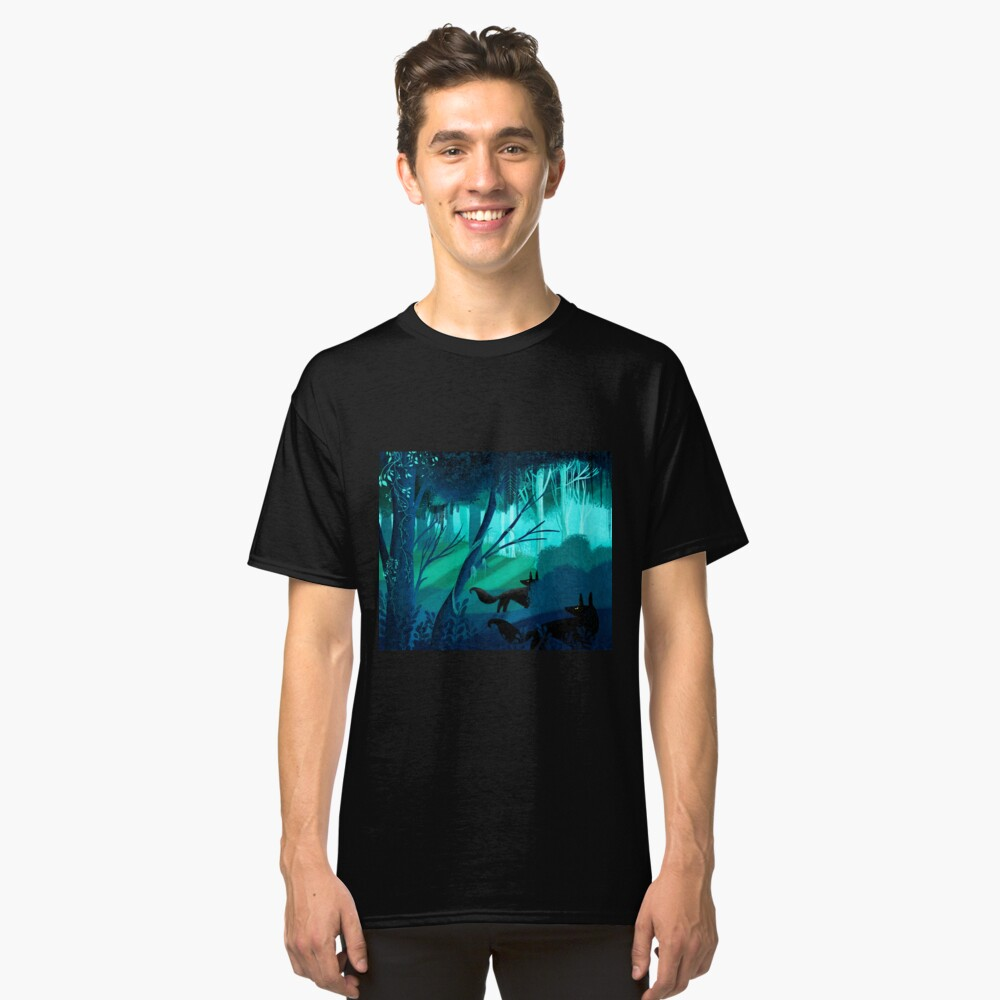 Shadow Wolves Stalk The Silver Wood Classic T-Shirt