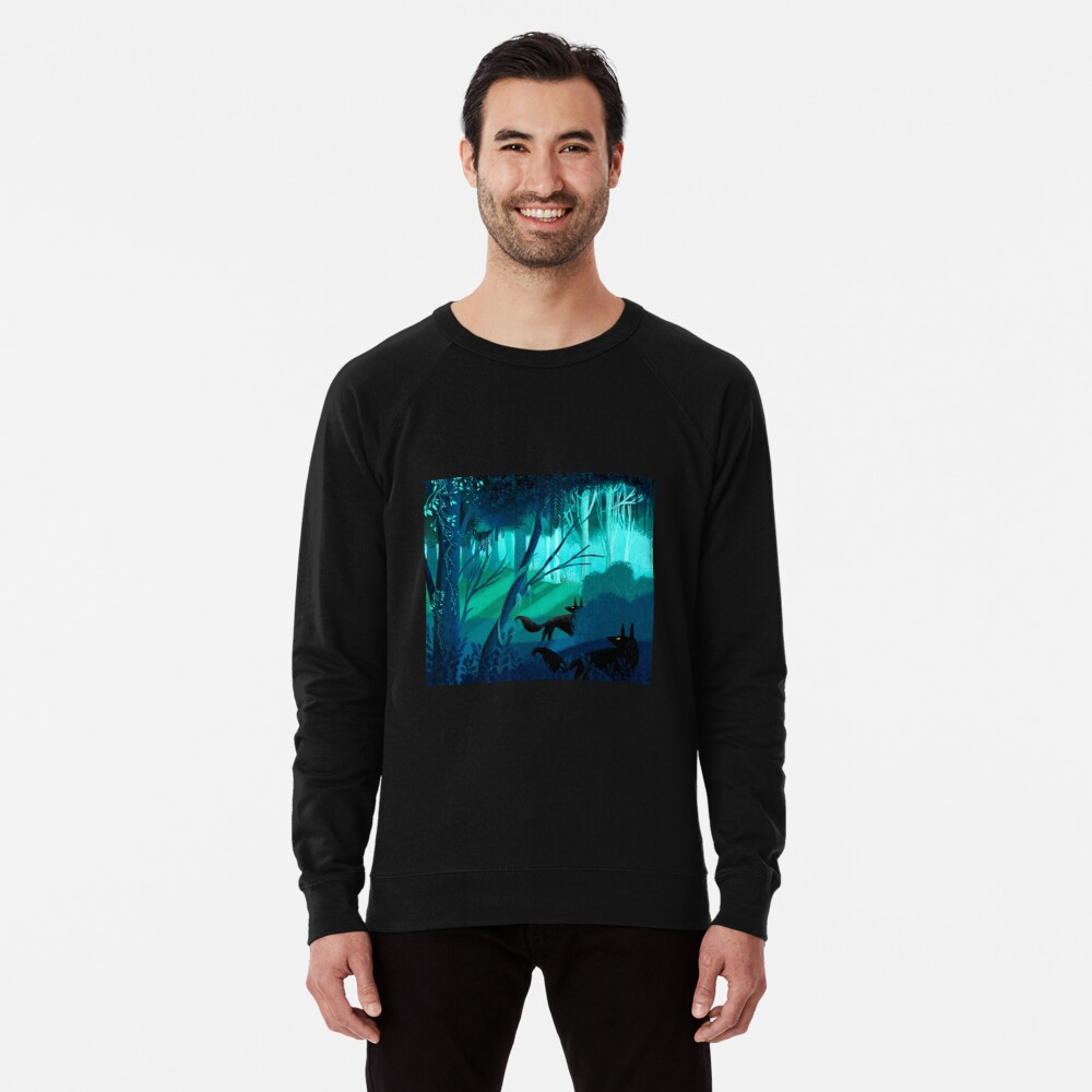 Shadow Wolves Stalk The Silver Wood Lightweight Sweatshirt