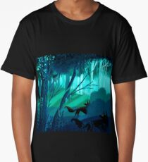 Shadow Wolves Stalk The Silver Wood Long T-Shirt
