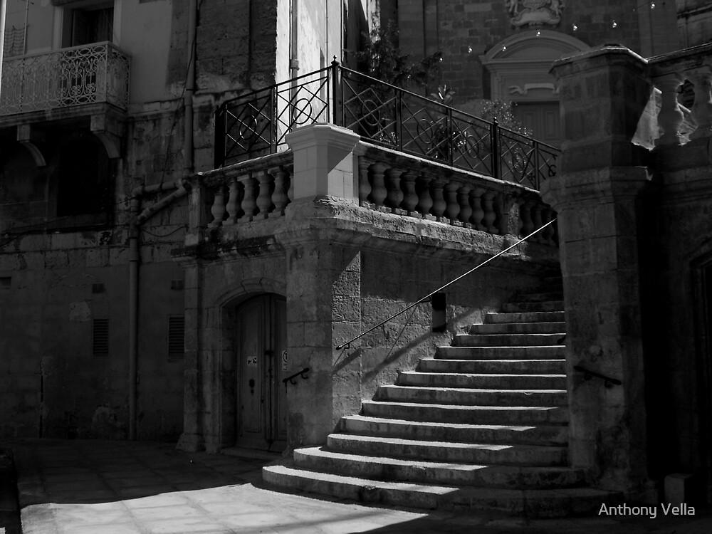 Vittoriosa Church Steps by Anthony Vella