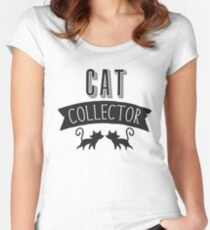Cat collector Women's Fitted Scoop T-Shirt