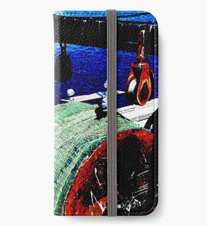 Das Fischerboot iPhone Flip-Case