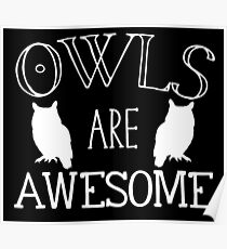 owls are awesome Poster