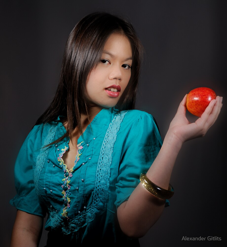 Girl with an Apple by Alexander Gitlits