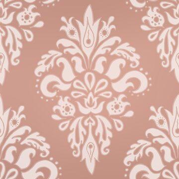 Rose Gold Vintage Pattern by julieerindesign