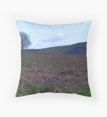 Bluebells in the Bracken Throw Pillow