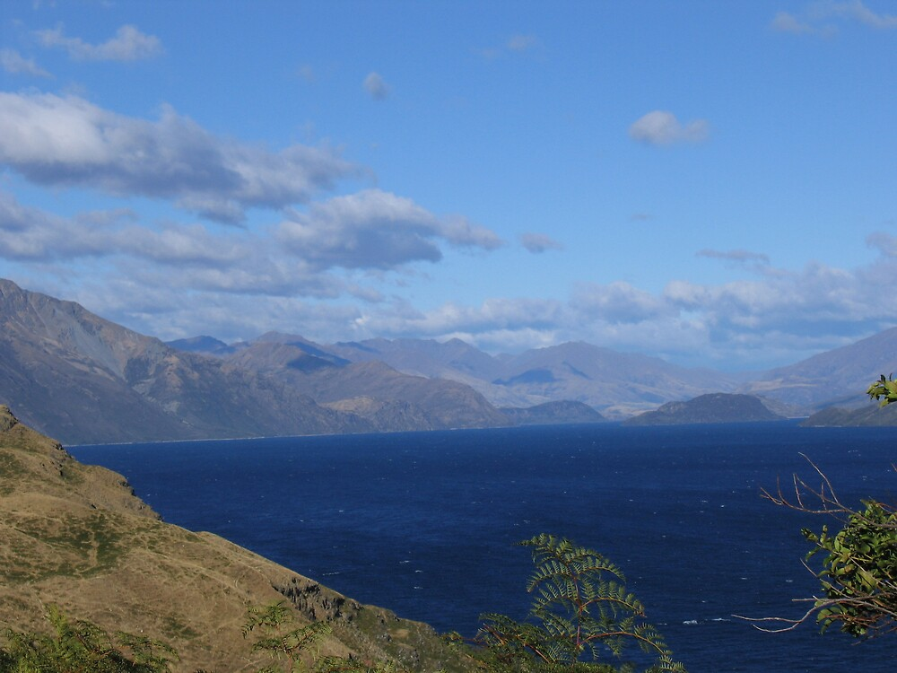 Mountain Ranges New Zealand by Dejajn