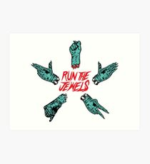 Lámina artística Run The Jewels - Piedra, papel, tijeras, puño, pistola