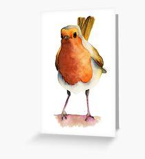Robin Bird Watercolor Painting Greeting Card