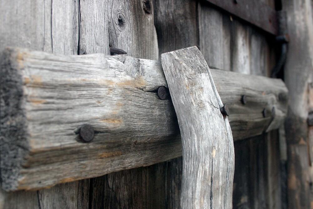 Sauna door, Lapland by Faith Hunter