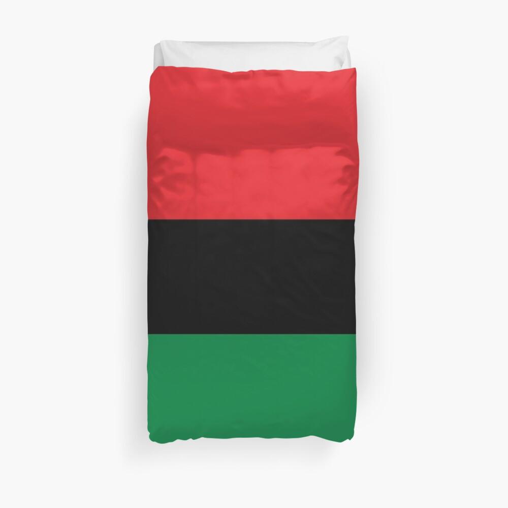 Pan African Flag T-Shirt - UNIA Flag Sticker - Afro American Flag Duvet Cover