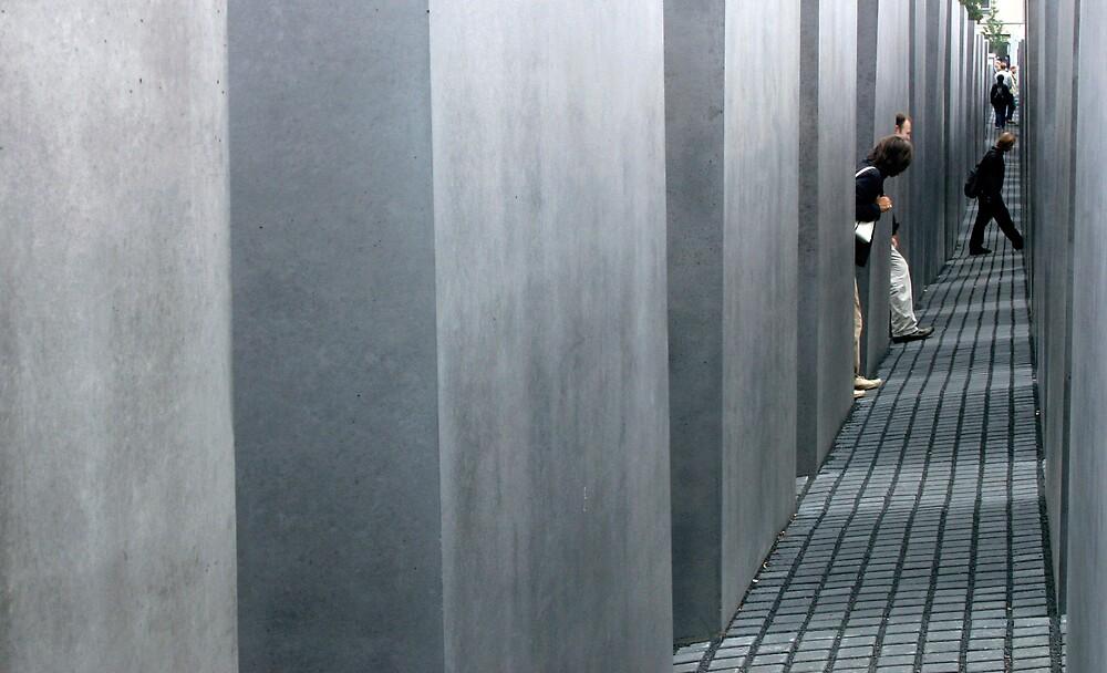 Solemn -Holocaust monument Berlin, Germany by Faith Hunter