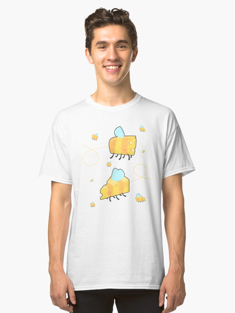 Bumble cheese V2 (white) Classic T-Shirt Front