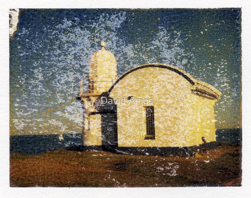 Taking Point Lighthouse - Fuji FP100C Image Transfer. by David Amos