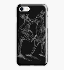 Boxing Roos - White Sketch iPhone Case/Skin