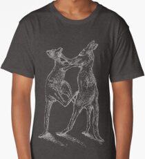Boxing Roos - White Sketch Long T-Shirt