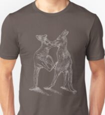 Boxing Roos - White Sketch T-Shirt