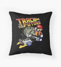 Track to the future Throw Pillow