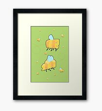 Bumble cheese V2 (green) Framed Print