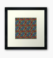 Firefly Pattern Muted Framed Print