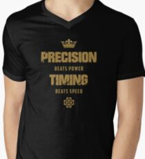 Precision beats power Timing beats speed | V1 | T-Shirt