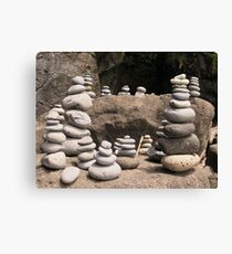Rock Sculptures Canvas Print