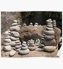 Rock Sculptures Poster