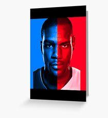 Kevin Durant LeBron James Face Off Mash Up T-Shirt Greeting Card