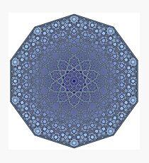 Fatty Star Flower Three Layer - Textured Photographic Print