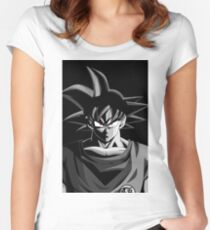 Goku Black And White Women's Fitted Scoop T-Shirt
