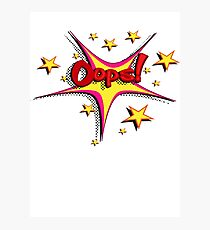 Opps! Vintage Comic Photographic Print