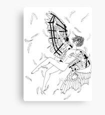 Icarus Descent (Black and White) Canvas Print