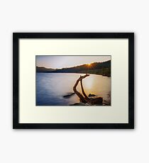 A Shot of Whiskey in the Morning Framed Print