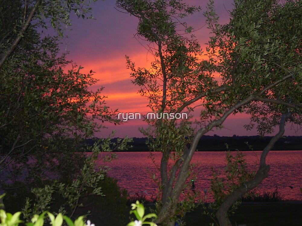 purple sunset by ryan  munson