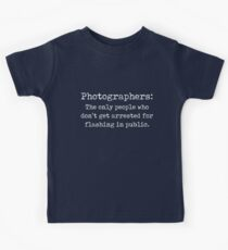 Funny Photographer Design Flashing In Public Kids Clothes
