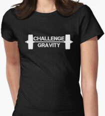 Challenge Gravity - White Women's Fitted T-Shirt