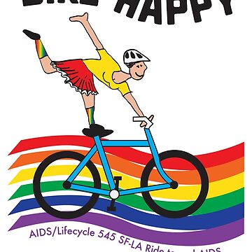 Bike happy to raise funds for the AIDS Lifecycle ride. by FitWit