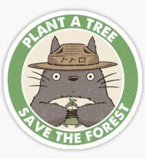 Pegatina Salva el bosque